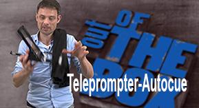 Autocue met een teleprompter