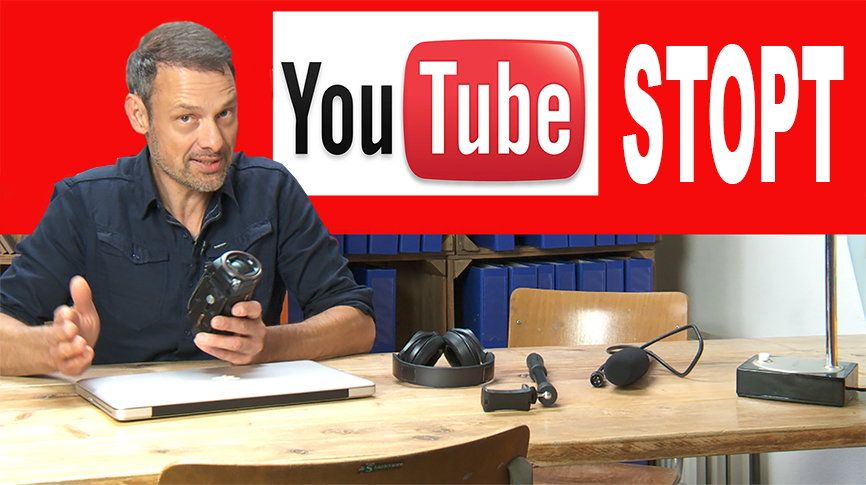 YouTube stopt...
