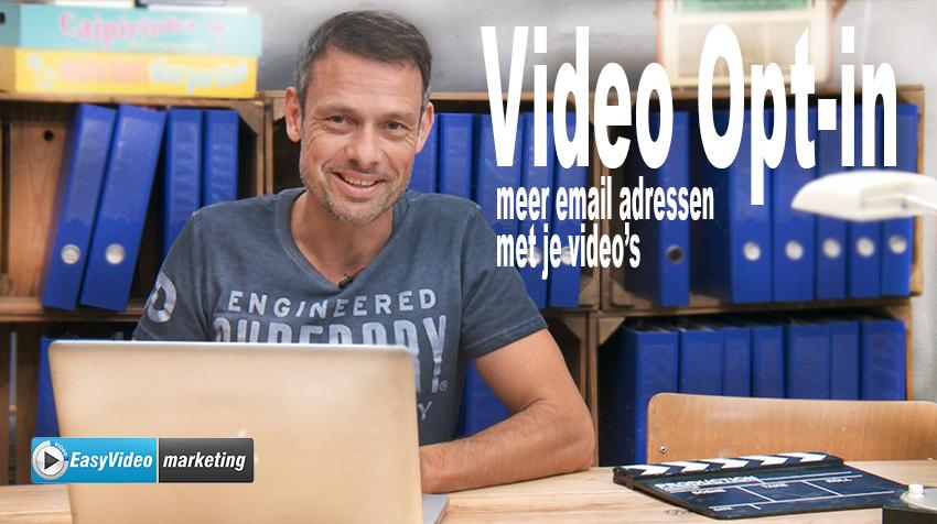 Vdeo Opt-in: email adressen krijgen