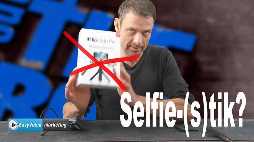 Selfie stick en microfoonset koppelen